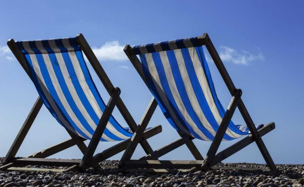Large summer vacation relax beach chair wallpaper preview